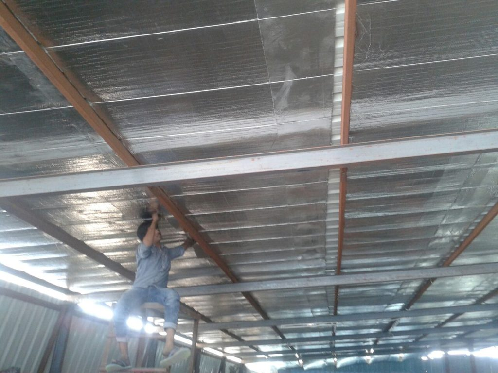 Under Deck Insulation with UV Barrier foam and AL foil